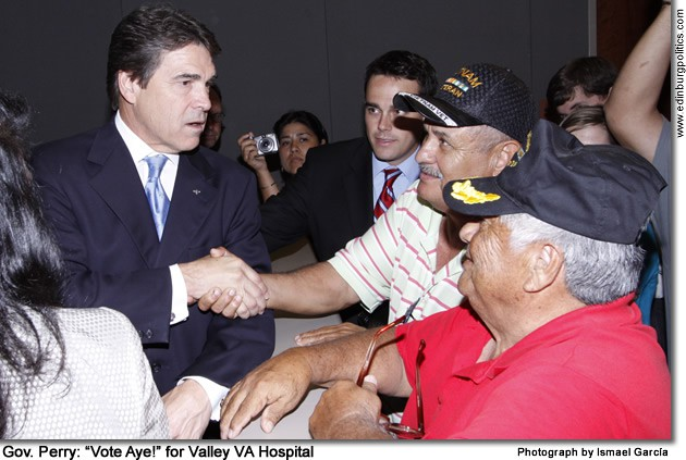 Gov. Perry endorses Proposition 8 by Rep. Flores, Sen. Hinojosa, Rep. Martínez to build Valley VA Hospital