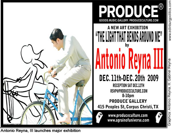 South Texan Antonio Reyna, III, artist extraordinaire, launches major exhibition Dec. 11 - 20 in Corpus Christi