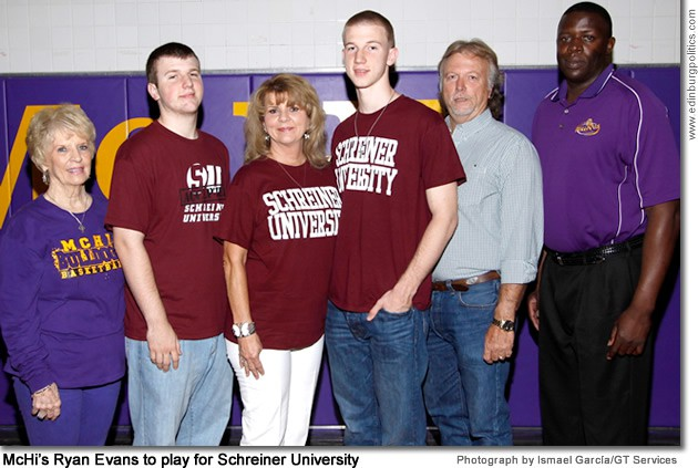 Ryan Evans, McAllen High School basketball star, commits with Schreiner University in Kerrville