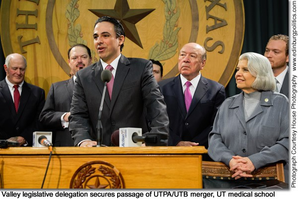 As South Texas prepares for Tuesday, July 16 bill-signing ceremony for UTPA/UTB merger, Rep. Canales praises new vision for university - Titans of the Texas Legislature