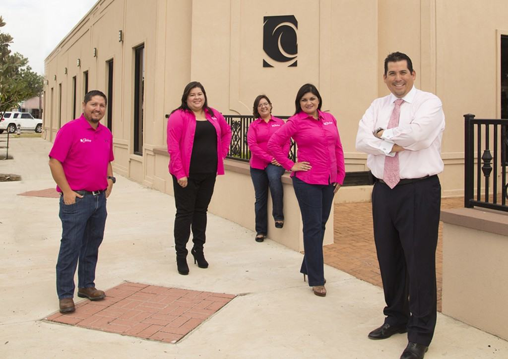 Staff members with the Edinburg Economic Development Corporation