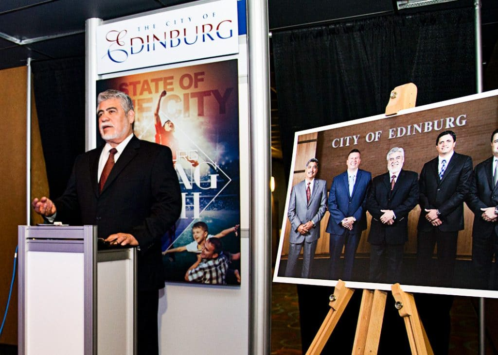 "Edinburg EDC: Mayor García adds landmark ""special needs"" park, designed for Edinburg's younger residents, to Downtown Master Plan"